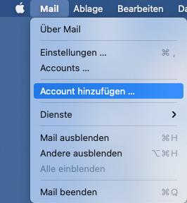 Apple Mail Einrichtung - 1