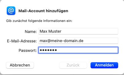 Apple Mail Einrichtung - 2
