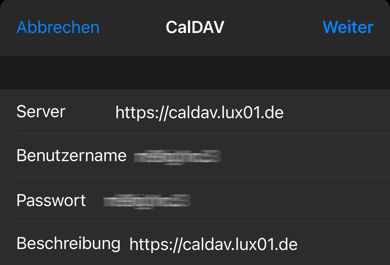 CalDAV iOS - 3