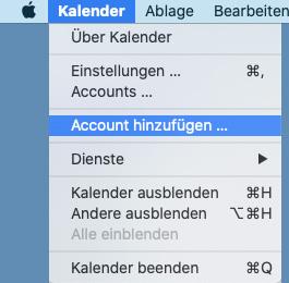 CalDAV auf Mac - 1
