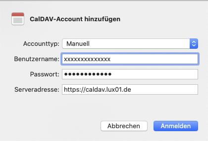 CalDAV auf Mac - 3
