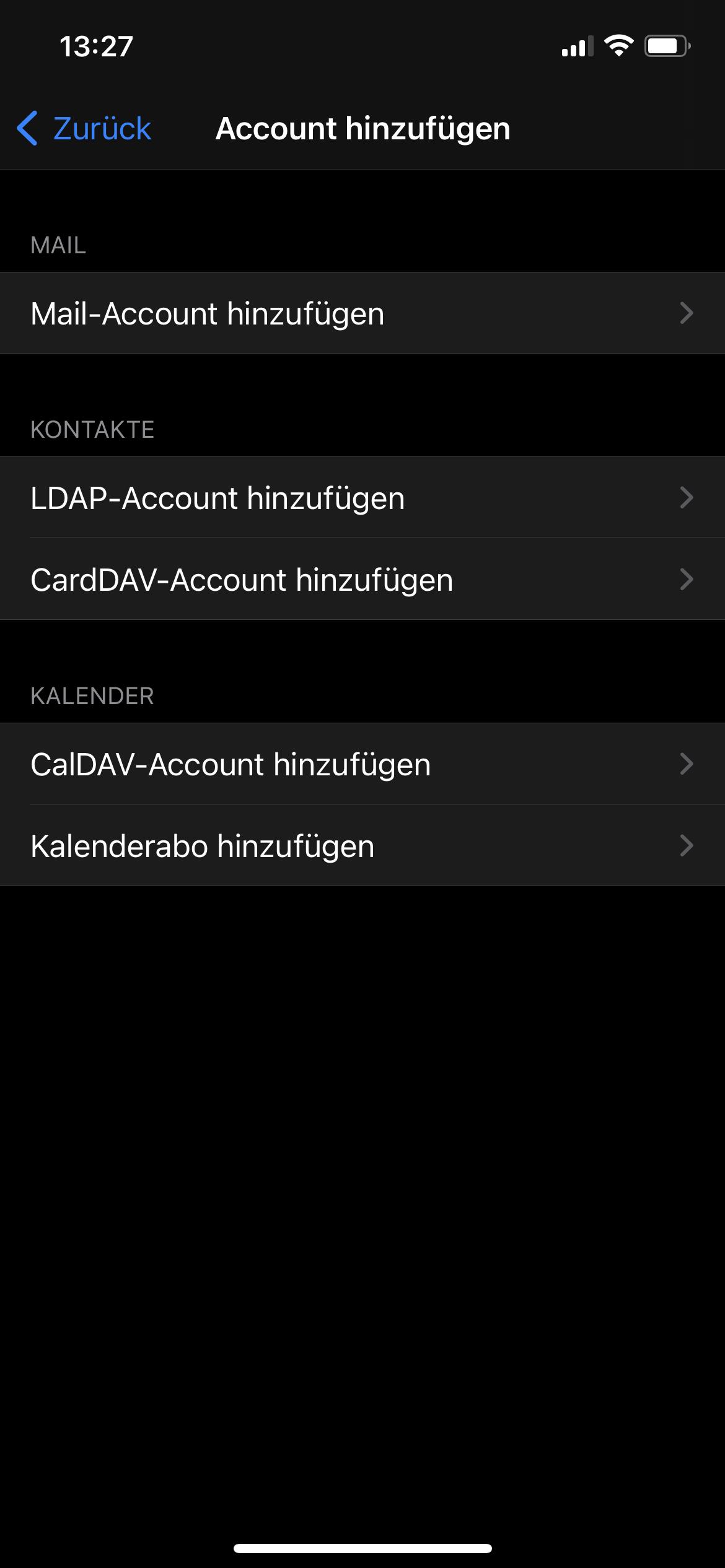 CalDAV iOS - 2
