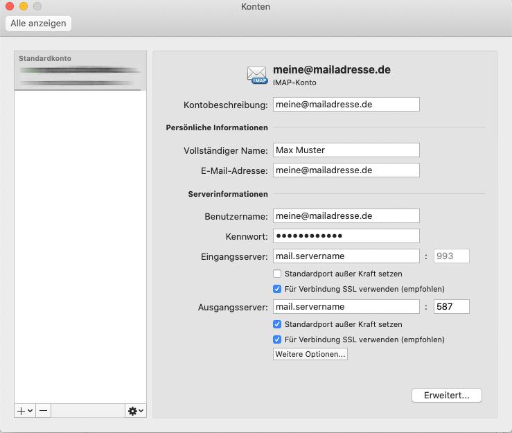 Outlook für Mac: Bearbeiten-Dialog 1