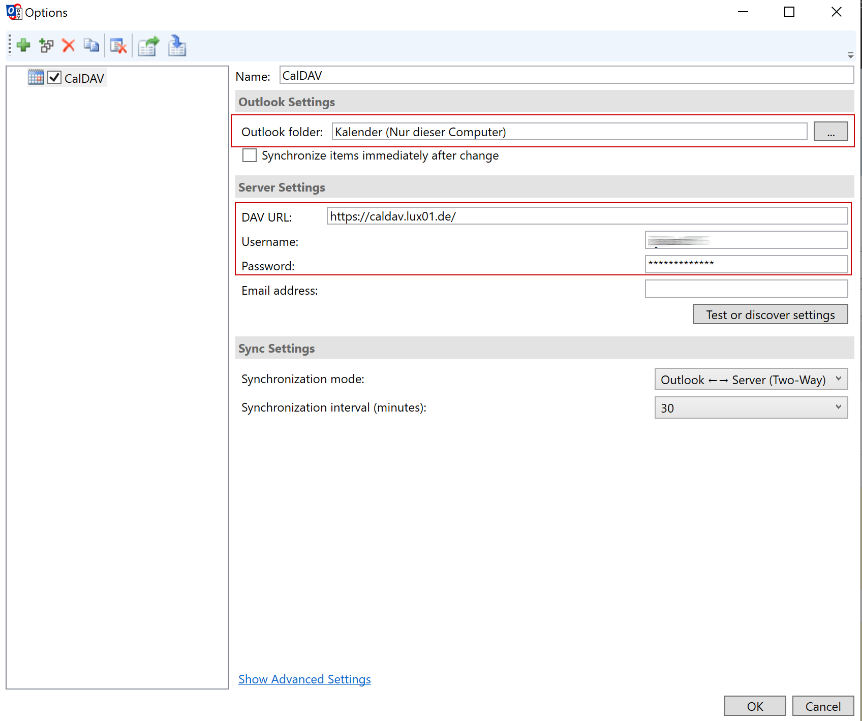 CalDAV via Outlook - 5