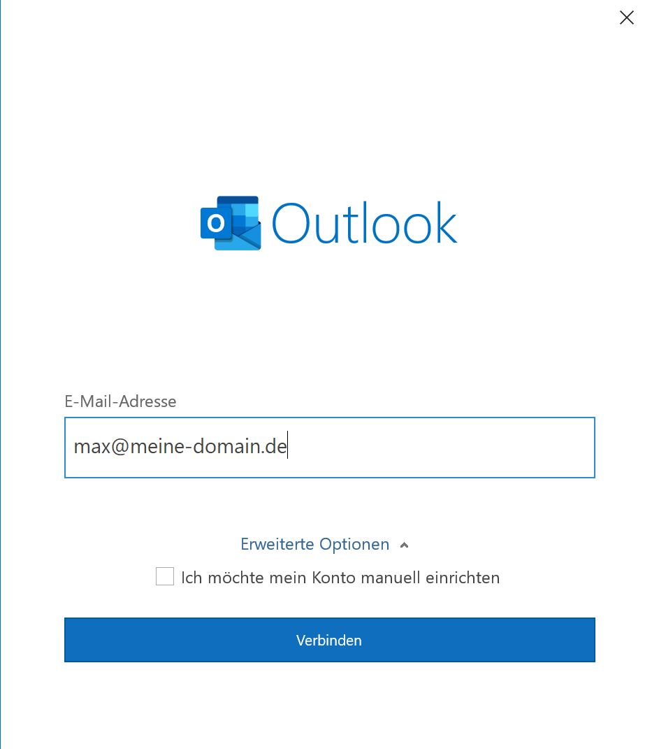 Outlook 365 Maileinrichtung - 1