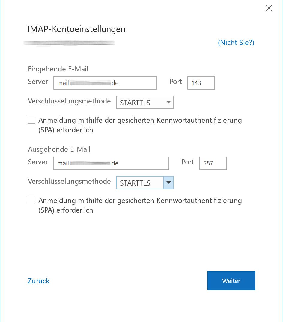 Outlook365 Maileinrichtung - 3
