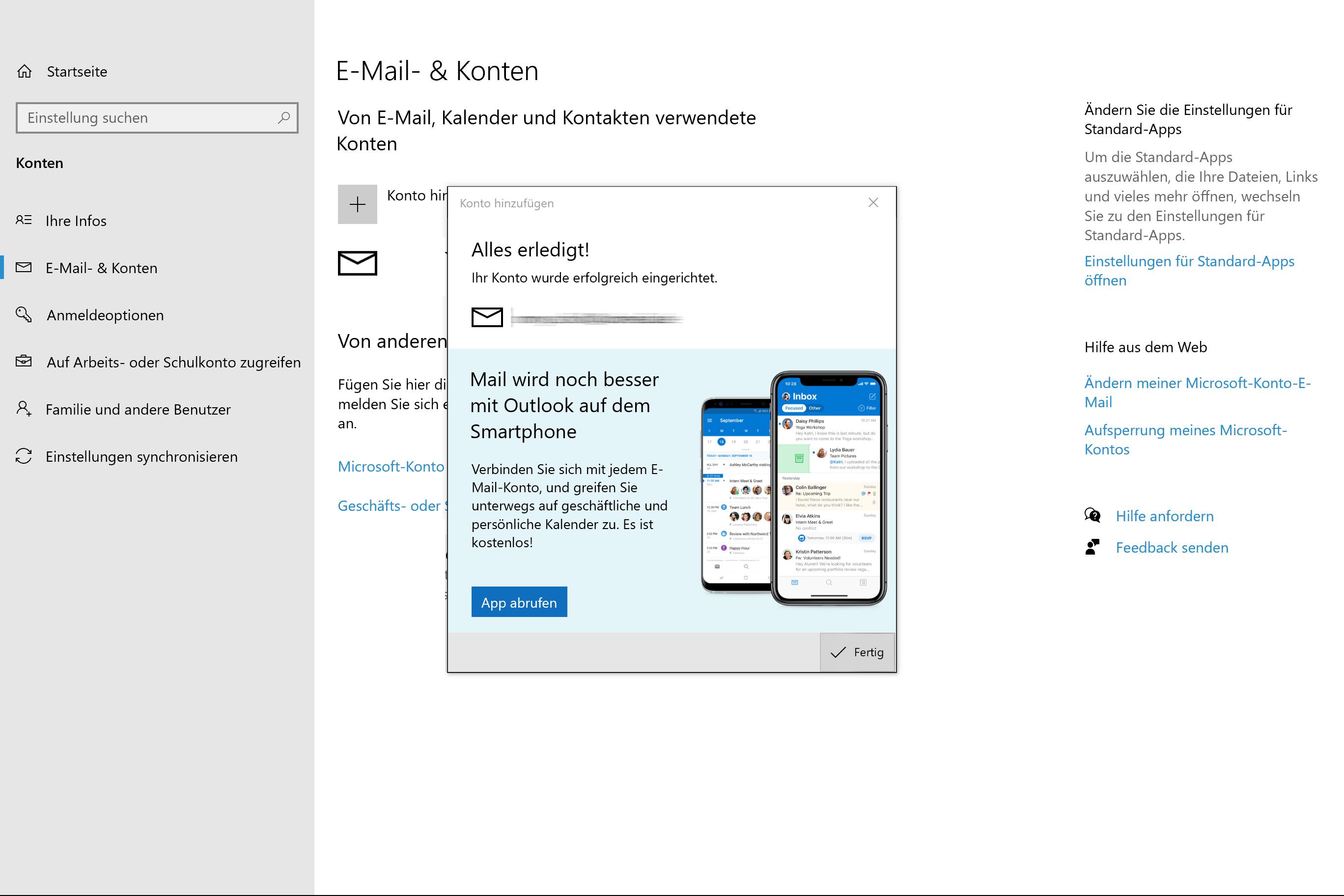 Windows Mail Einrichtung - 4