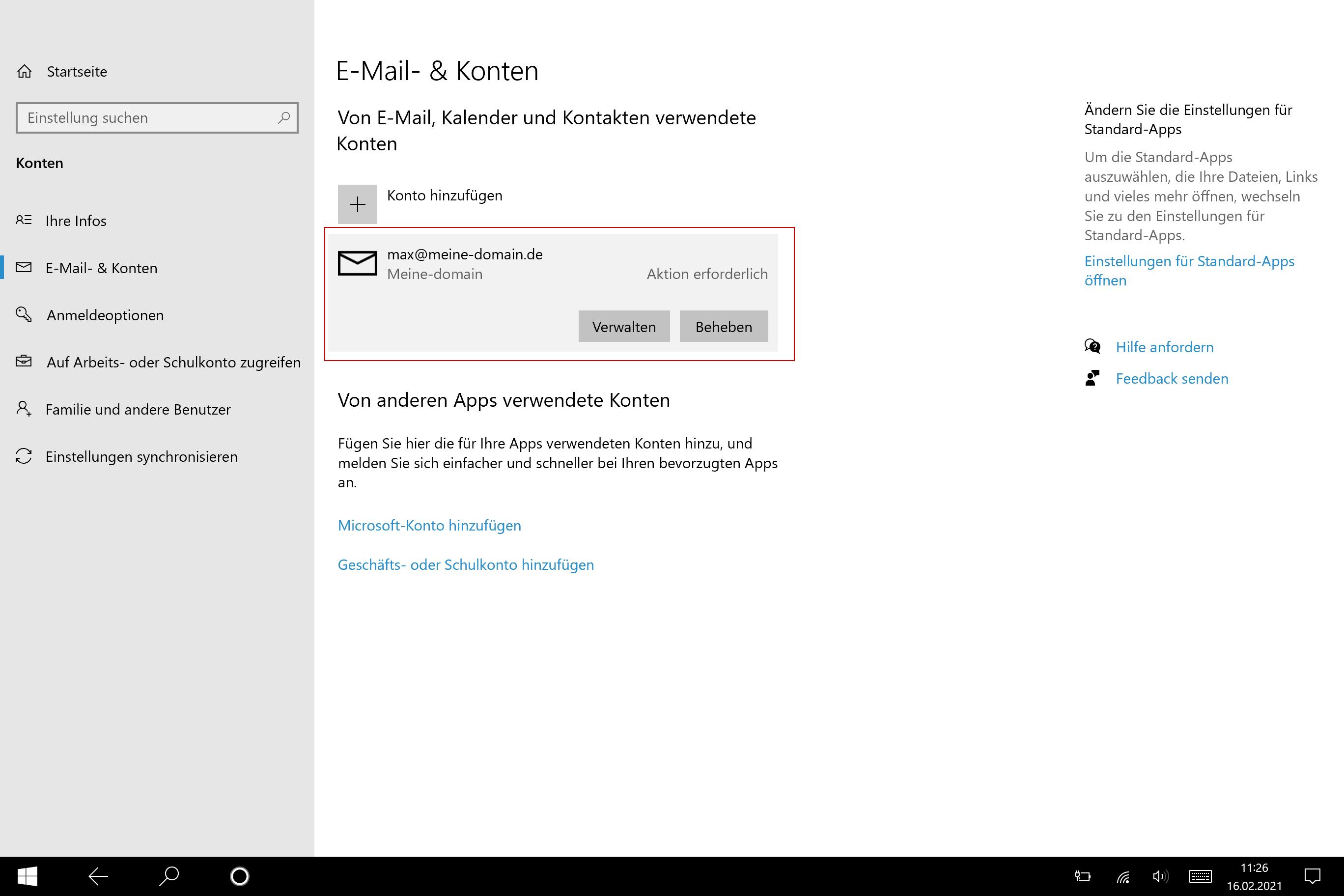 Windows Mail Einrichtung - 5