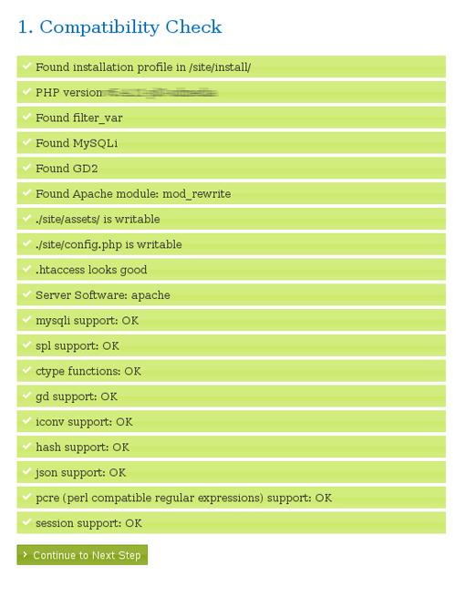 ProcessWire Kompatibilitätstest