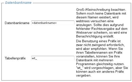 webtrees Datenbank Tabelle