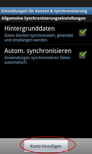 Android-Synchronisation
