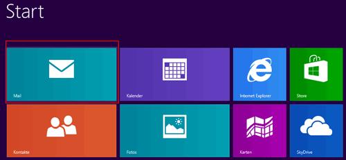 Windows 8 Mail - E-Mail-Einrichtung