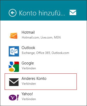 Windows 8 Mail - E-Mail-Einrichtung Schritt 4